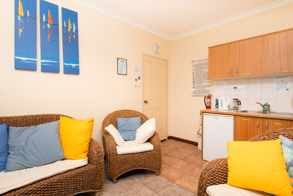 The little kitchenette is equipped with all your basic needs.